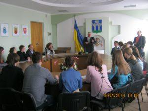На зустрічі студентів-стипендіатів із міським головою