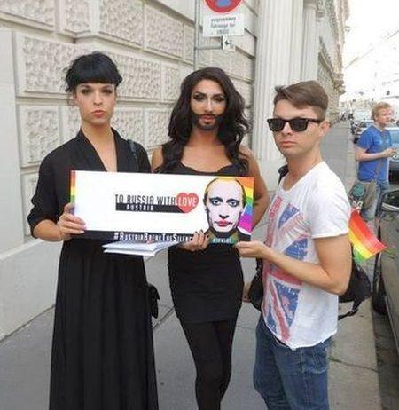 Кончіта Вурст Путіну : Геїв не зупинити!
