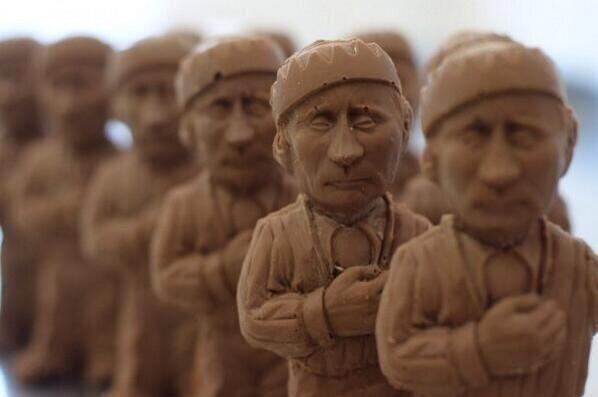 З`їсти Путіна: у Львові можна придбати шоколадну фігурку президента РФ