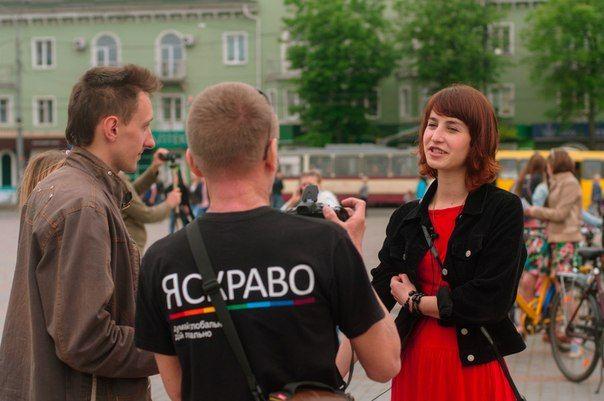 Одна із організаторів заходу- Вікторія Власюк