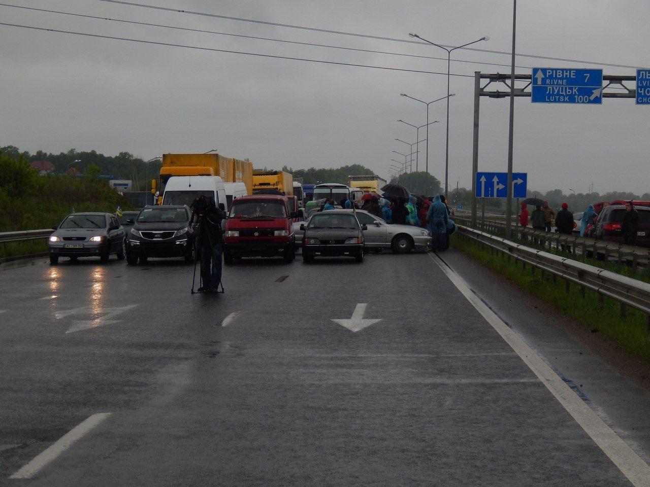 Блокування траси Київ – Чоп