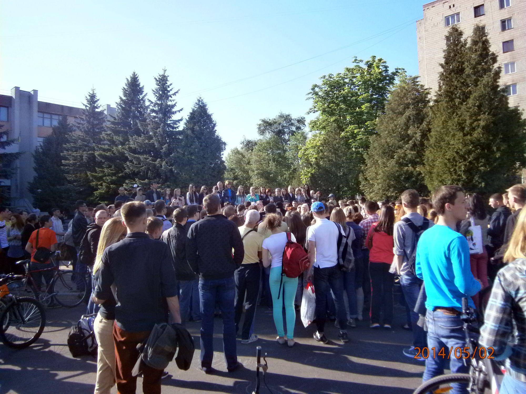 Екстреміст з Майдану зіграв у Рівному