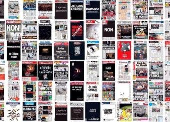 Близько сотні ЗМІ в знак солідарності присвятили головну сторінку розстрілу французьких журналісті, а Кияни вийшли до французького посольства