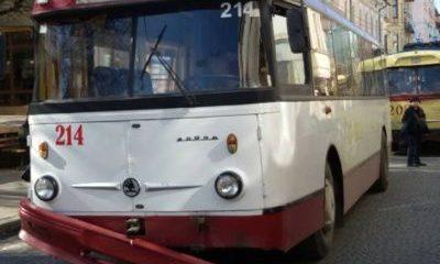В Рівному утворився тролейбусний затор