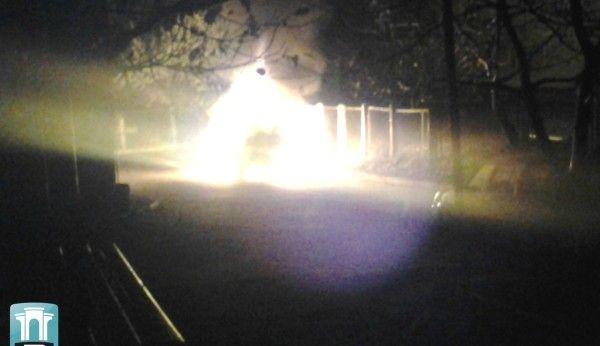 У Рівному на Буковинській згорів Porsche Cayenne