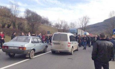 Перевізники Закарпаття блокували трасу міжнародного значення