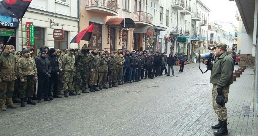 Націоналісти і праві пікетують поліцію Тернопільщини