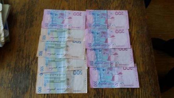 хабар у три тисячі гривень