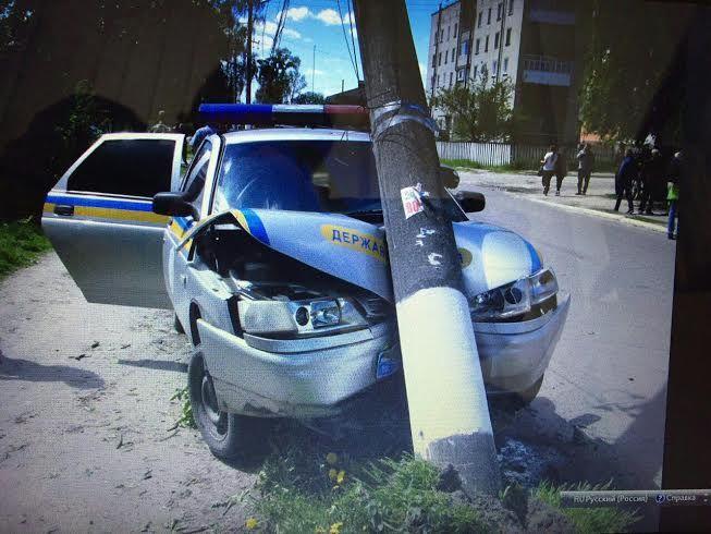 На Рівненщині поліцейський потрапив у ДТП