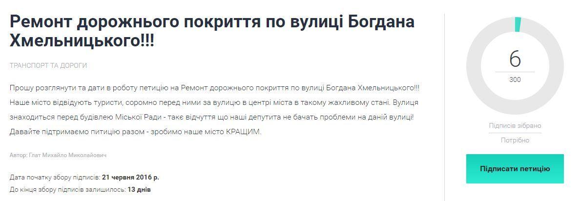 У Луцьку хочуть відремонтувати дорогу по вулиці Богдана Хмельницького