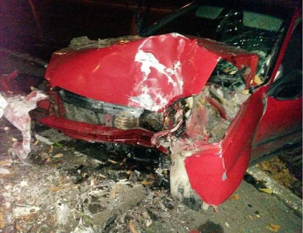 П'яний водій збив пішохода (Фото)