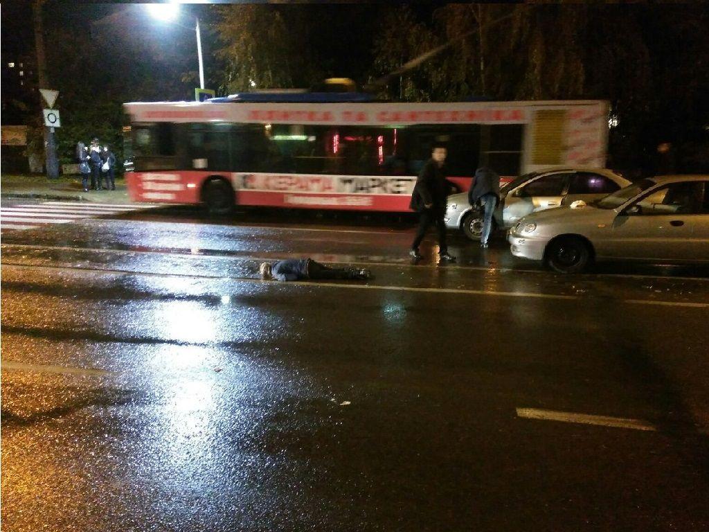 У Львові автомобіль збив п'яну жінку (Фото)