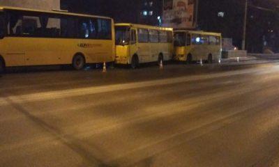У Львові в ДТП зіткнулося три маршрутки