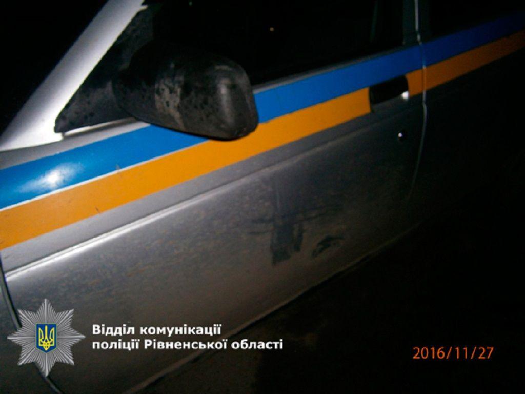 На Рівненщині побили поліцейського (Фото)