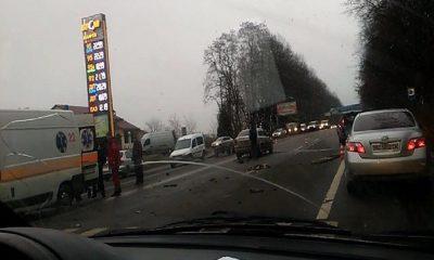 На Львівщині ДТП: віз зіткнувся з автомобілем