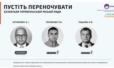 Тернопільські безхатьки: активісти знайшли три депутати без житла