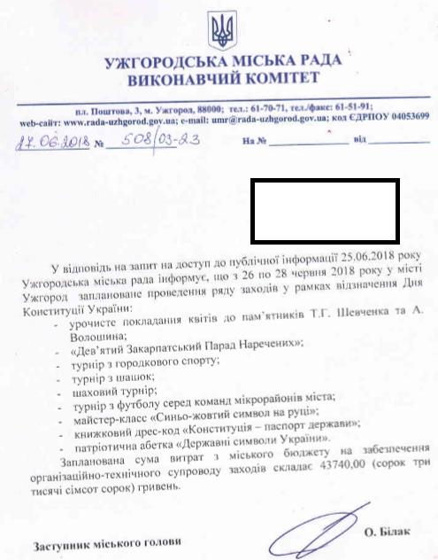 День Конституції Ужгород 2018