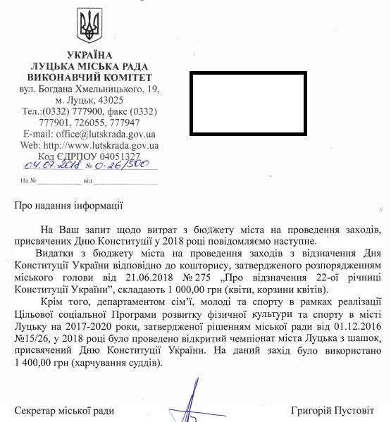 День конституції Луцьк 2018